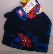 TODDLERS 2 PC SET 1 HAT 1 PR MITTENS ONE SIZE FITS MOST SPIDERMAN A-19