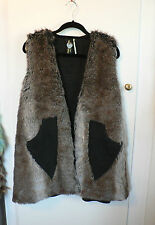 Tall Faux Fur Coats & Jackets without Fastening for Women