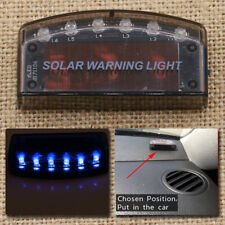 Universal Car Blue Solar Energy Security Alarm Warning Theft Flash Sensor Light