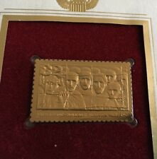 1995 WWII Survivors Liberated First Day 22kt Gold Golden Cover Stamp Holocaust