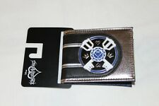 New Disney Kingdom Hearts Keyblades Black Silver Striped Faux Leather Wallet