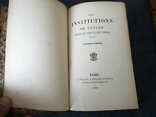 Rare, Les institutions de Tauler.ordre de Saint Dominique éditeur A. TRALIN 1909