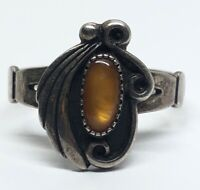 Vintage Sterling Silver Ring 925 Size 6 Tigers Eye Southwest CMWO
