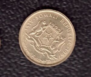 SOMALIA 5 CENTESIMI 1967
