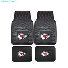 NEW 4pcs NFL Kansas City Chiefs Car Truck Front Back 3-D Rubber Floor Mats Set