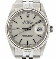 Mens Rolex Stainless Steel Oyster perpetual Datejust Watch Jubilee Silver 16220