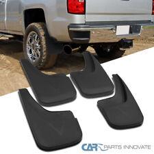 For GMC 14-18 Sierra Pickup Black Front & Rear Mud Flaps Splash Guards Mudguard