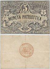 LOMBARDO VENETO - VENEZIA - Moneta Patriottica - 5 Lire 1848 (1)