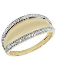 9ct Yellow Gold Hallmarked Ladies Cubic Zirconia CZ Ring All Sizes Available