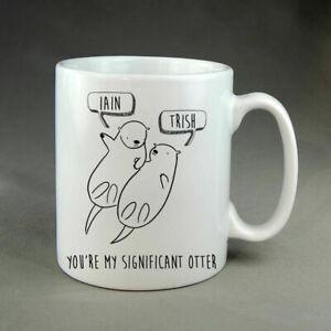 Personalised Otter Cute Animal Mug Anniversary Valentine's Day Gift Christmas