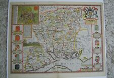 Hampshire: antique map by John Speed, 1611 (1st edition)