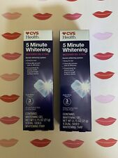 2 Packs CVS Health 5 Minute Whitening Kit Tooth Whitening System Gel and Tray
