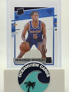 2020-21 Clearly Donruss Immanuel Quickley PURPLE RATED ROOKIE SP RC NY KNICKS