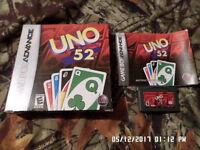 Uno 52 (Nintendo Game Boy Advance) = COMPLETE w/ Box & Instruction Manual (GBA)
