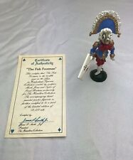 Vintage Alice in Wonderland The Fish Footman Pewter Figurine Hamilton Metal Rare