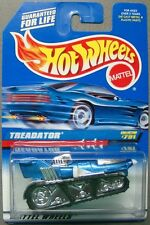 Hot Wheels 1997 Diecast Coll. #791 Treadator Blue with White & Chrome window