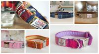 Handmade Harris Tweed Dog Collars Mixed Colours For Dogs and Puppies