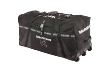 "New Vaughn 7800 ice hockey goalie three wheeled bag senior 43"" black"