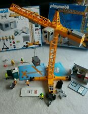 Playmobil Mega Set Crane & Container Construction Office 4080 VERY RARE complete