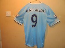 MANCHESTER CITY  PREMIER LEAGUE FC NIKE A.NEGREDO No9 SHIRT 2013  SMALL ADULT