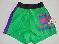 Vintage 90 BRUGI Boxer L Shorts Costume Beach Pantaloncini Verde Costa Smeralda