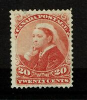 Canada SC# 46 Mint Hinged / Repaired Top Perf & Tiny Tear / Full Gum / Hinge Rem