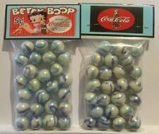 2 Bags Of Betty Boop Coca Cola Soda Promo Marbles