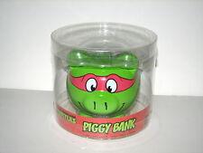 "TMNT Teenage Mutant Ninja Turtles Raphael Ceramic Piggy Bank MIP 4.5"" 2014 NEW"