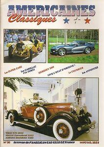 AMERICAINES CLASSIQUES 90 LES SUPERCARS LES CADILLAC V16 1930 1931 HERSHEY 2000