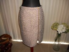 NWT J CREW  ZIP FRONT PENCIL SKIRT IN SPARKLE TWEED SIZE 10