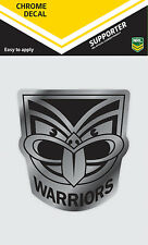 NRL New Zealand Warriors iTag Chrome Decal Sticker