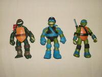 TMNT TEENAGE MUTANT NINJA TURTLES Lot of 3 Action Figures 2012 & 2013
