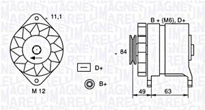 Alternator Magneti Marelli Fits FIAT IVECO LANCIA MITSUBISHI L 1.1-2.8L 1980-