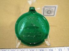 Kitras Art Glass Pressed Green Recycled Round Glass Dover, NJ Gazebo Ornament