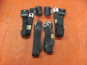 1970 70 Chevelle Black Front Seat & Shoulder Seat Belts SS Dated LS6