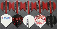 10 Packets of Brand New Ruthless  Darts Flights - 'Essentials 10' pack.