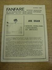 Mar-1981 Rugby League: Fanfare Monthly Newsletter Of The International Rugby Lea
