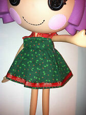 Doll Clothes Dress for LALALOOPSY DOLL Green Dress with HOLLY NEW
