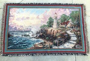 "Vtg NWT Thomas Kinkade PAINTER OF LIGHT Tapestry Wall Hanging Art 46""x72"" Cotton"