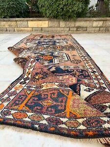 Antique Handmade Vintage Kurdish Tribal Carpet Area Rug Runner 9'11 x 3'4