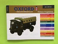 Oxford Diecast Catalogue (Jun 2012 - Sept 2012) Mint Condition
