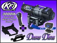 3000lb KFI Steel Winch Mount Combo - 2010-18+ Can-Am Commander 800 1000 E Max