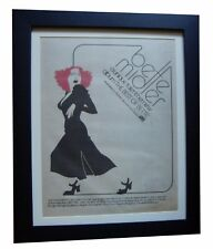 BETTE MIDLER+Best Of+POSTER AD+RARE ORIGINAL 1978+FRAMED+EXPRESS GLOBAL SHIP