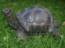 Schildkröte L44cm groß naturgetreu Landschildkröte Figur Deko Garten Skulptur xl