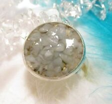 ORGONE Ring with natural ANGELITE - Protection and Harmony