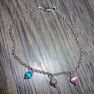 Shambala Silver Sterling Ankle Bracelet size M