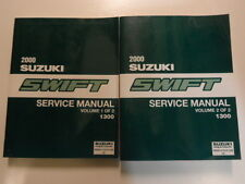 2000 Suzuki Swift Service Shop Manual FACTORY BOOK 00 2 VOLUME SET BRAND NEW OEM