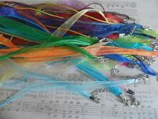 "10 x 18"" Organza & Cord Necklaces for Pendants,~Jewellery Making handmade"