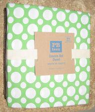 POTTERY BARN ~ DOUBLE DOT DUVET COVER ~ GREEN ~ FULL / QUEEN ~ BEDDING ~ PB TEEN