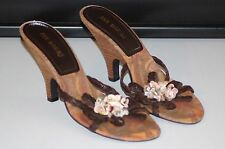 ANN MARINO SANDALS / HEEL SHOES WITH SHELLS color  BROWN  size  7.5 M